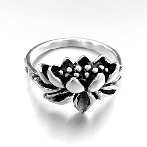 Blooming Lotus 925 Sterling Silver Ring